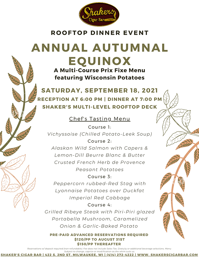 Annual Autumnal Equinox Rooftop Dinner