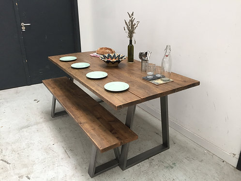 Industrial Tapered Leg Kitchen/Dining Table