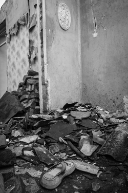 Bombed out house