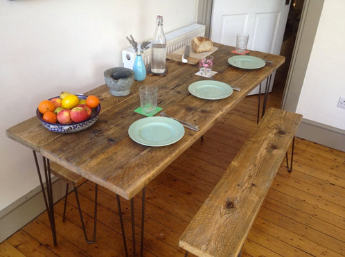 Slim KitchenDining Table - Slim dining table with bench