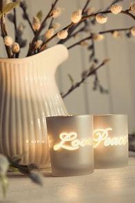 Meditation votive candles creating a rel
