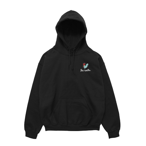 Hoodie - Embroidered Black