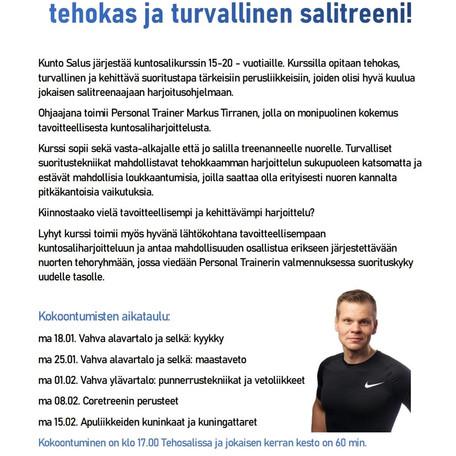Treeniryhmä nuorille - Tehokas ja turvallinen salitreeni!