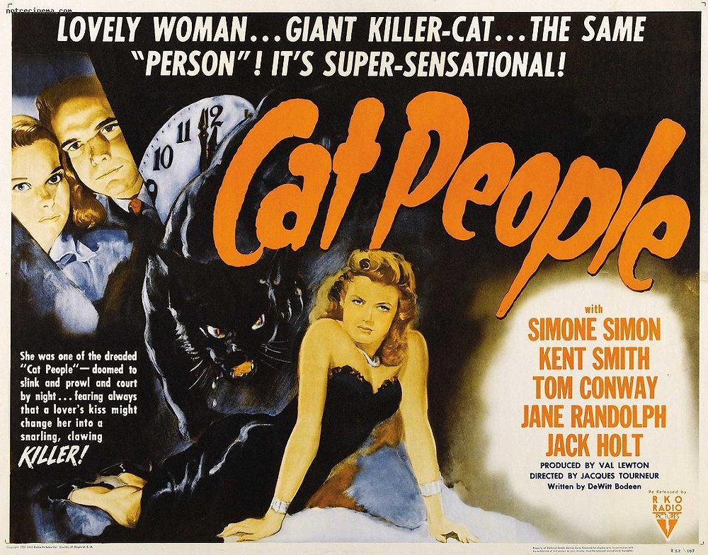 Simone Simon was filming the 1942 blockbuster, Cat People, during her romance with Popov.  It seems that she may have secretly blown a kiss to Dusko in her role.  In the film, she plays a Serb, Irena Dubrovna Reed ... a subtle nod to her Serbian boyfriend from Dubrovnik?