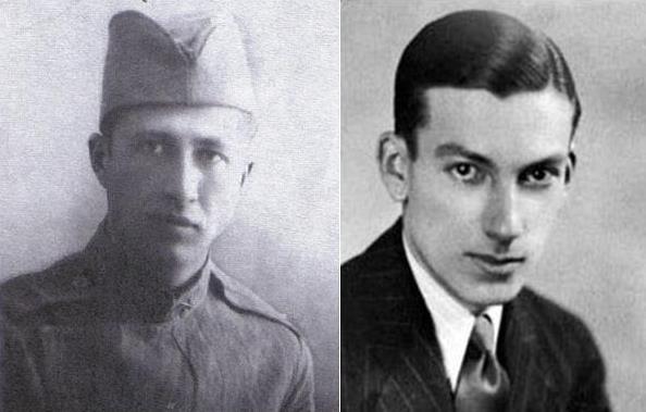 Dusko Popov in his Yugoslav cavalry uniform (approx 1938), and Hoagy Carmichael.