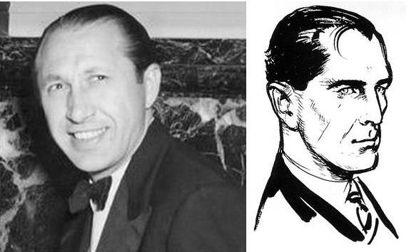 MI6 agent Dusko Popov and Ian Fleming's commissioned sketch of James Bond.
