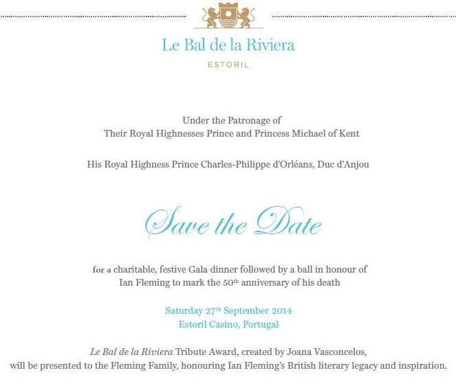 The official invitation to Le Bal de la Riviera.