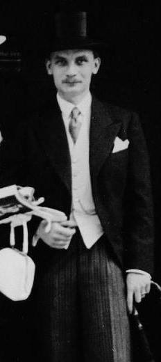 Johann Jebsen on his wedding day.