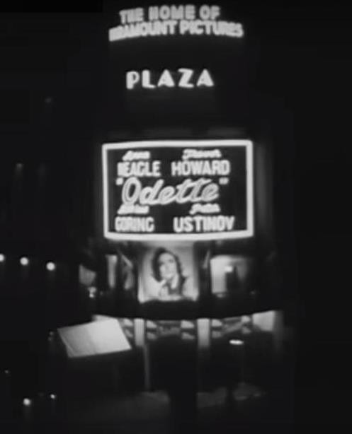World premier of Odette, June 6, 1950.