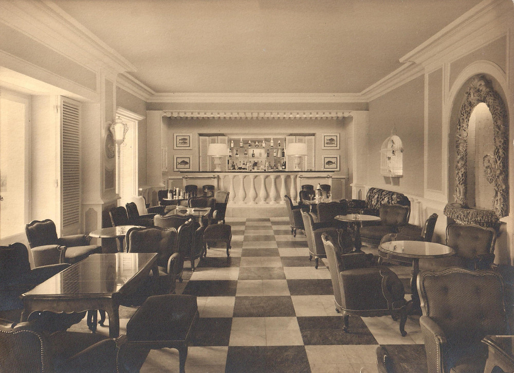 "Palacio's intimate lounge, colloquially known today as the ""Spy Bar."""