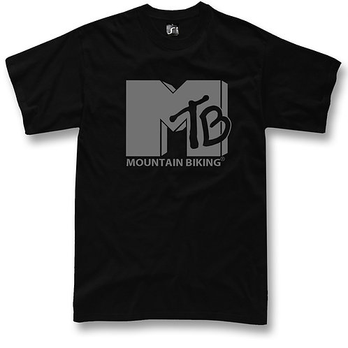 MTB t-shirt MTV funny logo Mountain Bike fans
