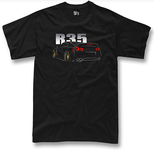 Godzilla GTR R35 t-shirt