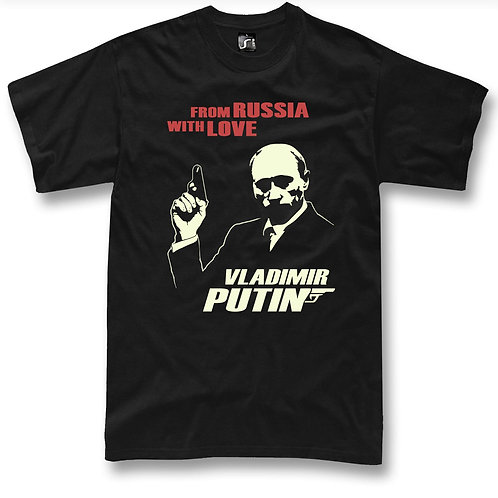 Vladimir Putin from Russia with love 007 t-shirt