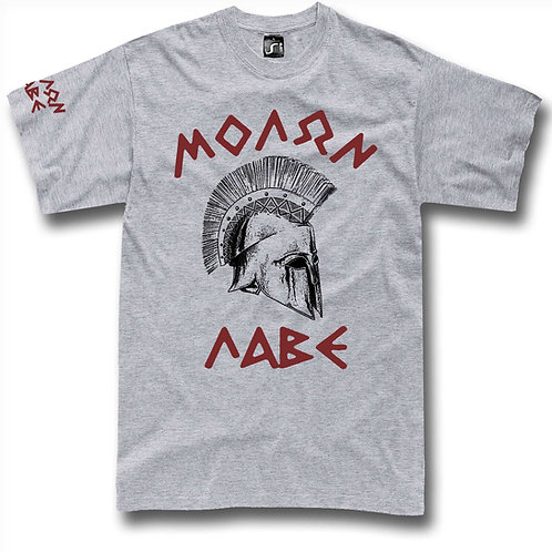 Molon Labe 300 Spartans helmet t-shirt