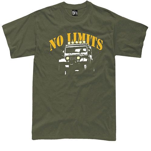 Off Road 4X4 No Limits jeep t-shirt