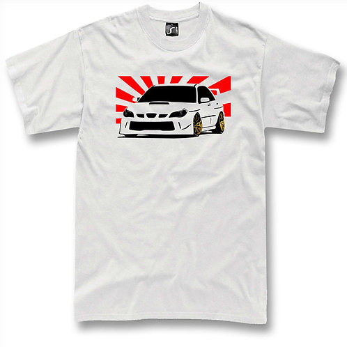 Subie WRX Sti Japan flag t-shirt