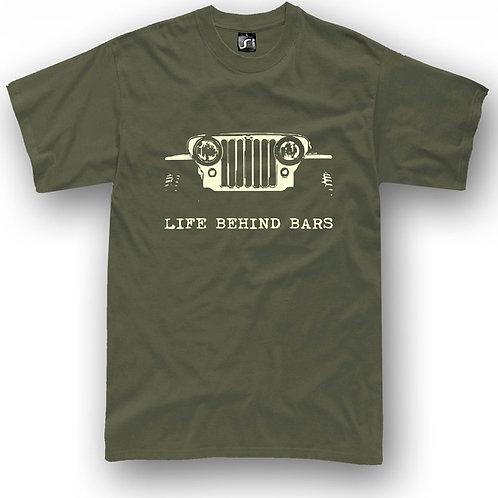 Off Road 4X4 Life Behind Bars jeep t shirt