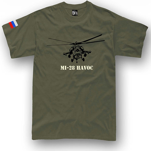 Helicopter MI-28 Havoc Attack Russia t-shirt
