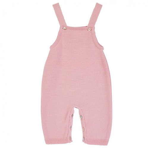 DANDELION DUSTY PINK KNITTED DUNGAREES