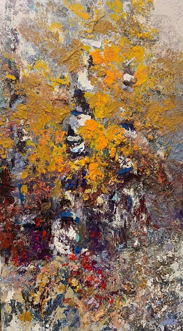 Kira Fercho original oil painting. Golden Aspens $16495