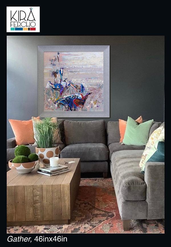 Gather, Original oil painting by Kira Fercho
