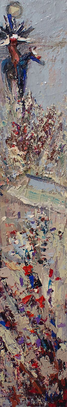 Kira Fercho original oil painting. Geronimo, oil on canvas $3495