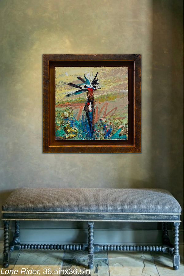 Kira Fercho original oil painting, Lone Rider