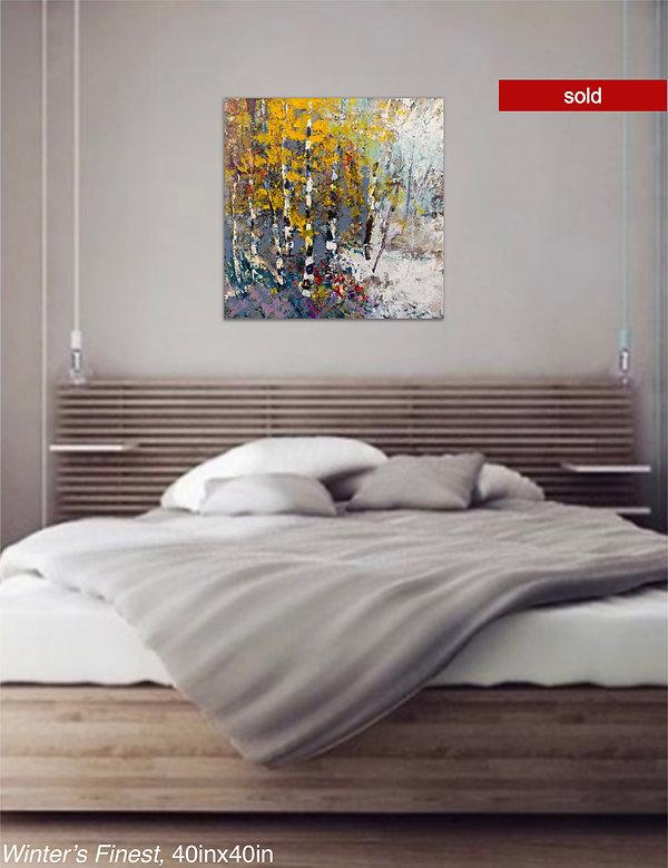 Winters Finest, Original Oil painting by Kira Fercho