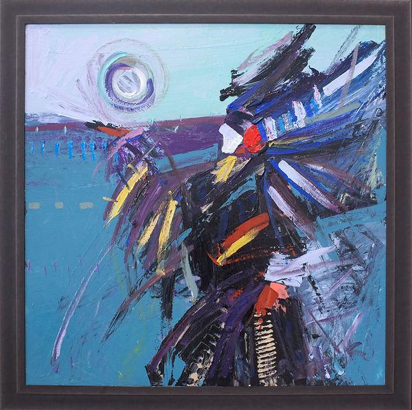 Kira Fercho original oil painting. Ancestor Guide, oil on canvas $7995