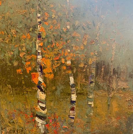 Kira Fercho original oil on canvas AspensAtDusk_48x48.jpeg