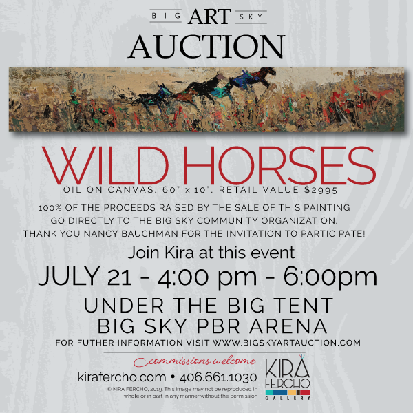 Join Kira at the Big Sky Art Auction