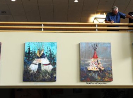 Chances are You've Seen the Exhibit! Learn the story behind the tepee paintings here...