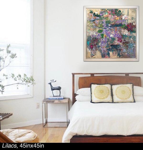 Lilacs, Original oil painting by Kira Fercho