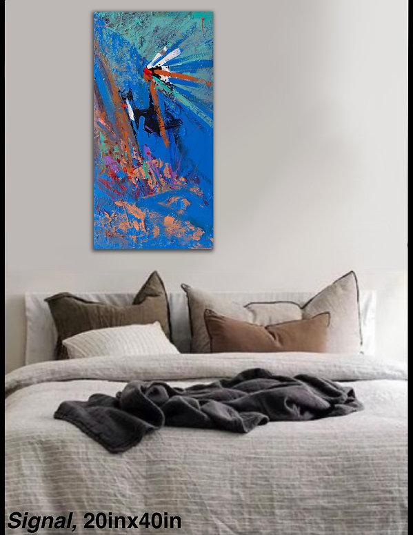 Montana Western Artist Kira Fercho Original oil painting Signal