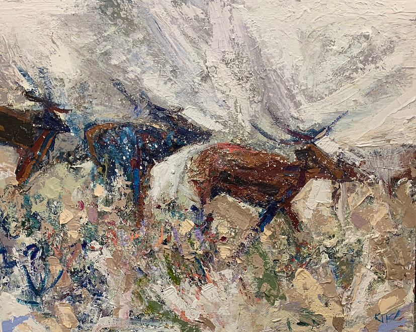 Kira Fercho original oil painting. LEADER oil on canvas $9995