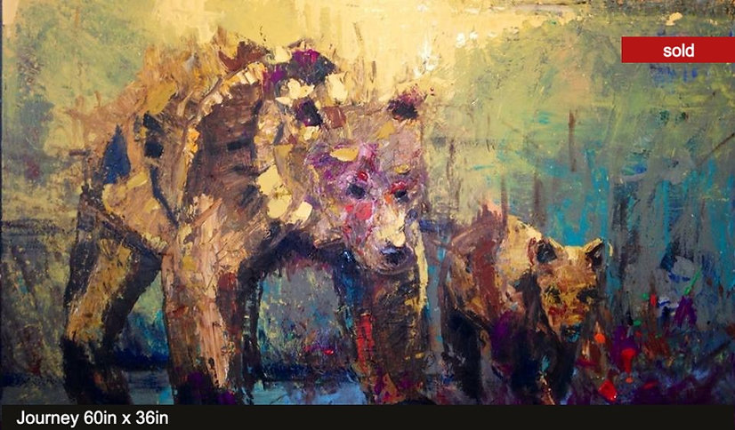 Journey, original oil painting by Kira Fercho