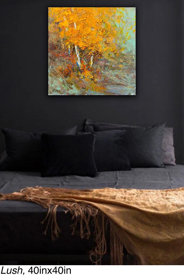 Kira Fercho original oil painting Lush