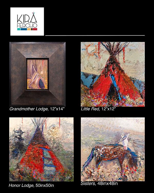 Kira Fercho Original oil Paintings at Enzo in Billings Montana