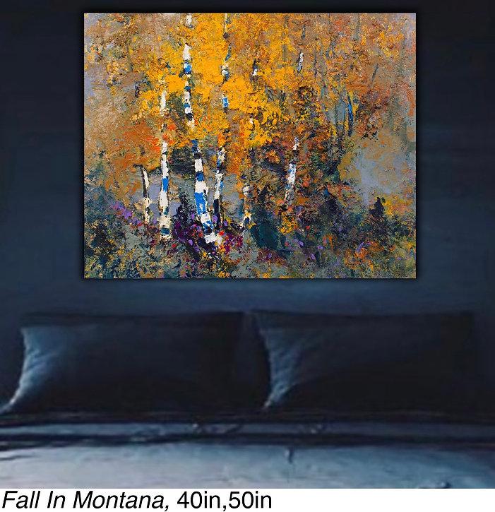Kira Fercho original oil painting Fall in Montana