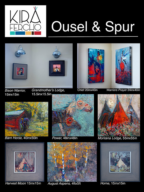 View original artwork by Kira Fercho at Ousel and Spur in Big Sky Montana