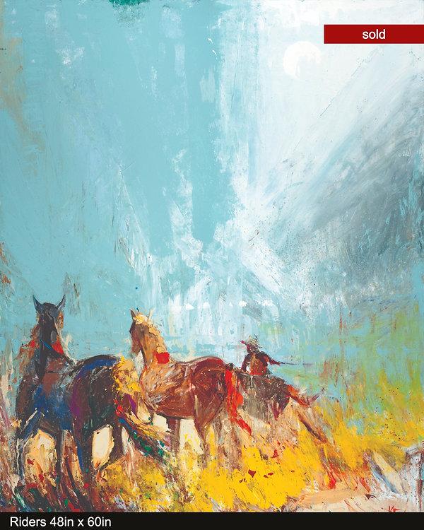 Riders, original oil painting by Kira Fercho