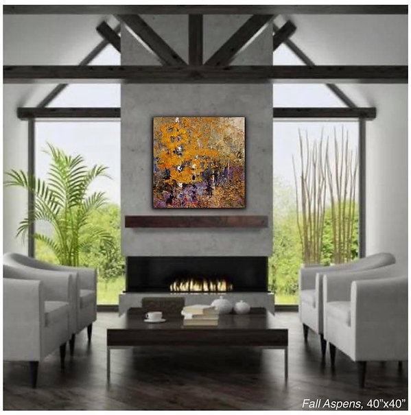 Fall Aspens Original Oil Painting by Kira Fercho
