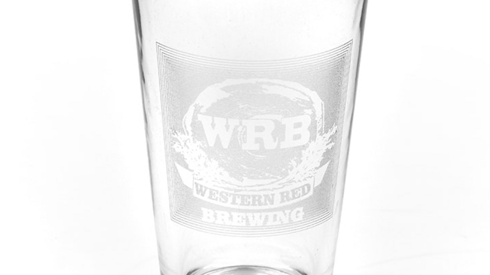 WRB Laser Etched Pint Glass