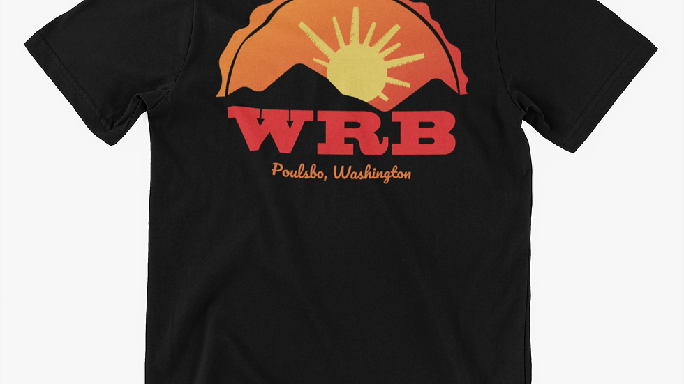 WRB Sunset Black Unisex Short-Sleeve Tri-Blend T-Shirt