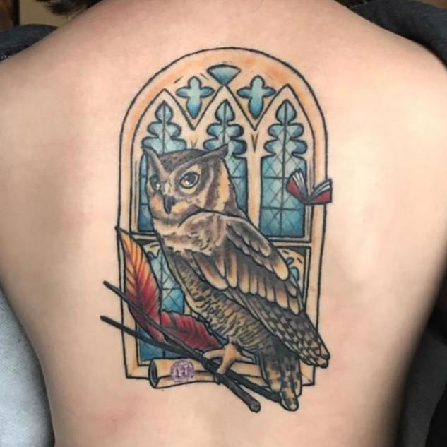 Library Window & Owl for Amanda
