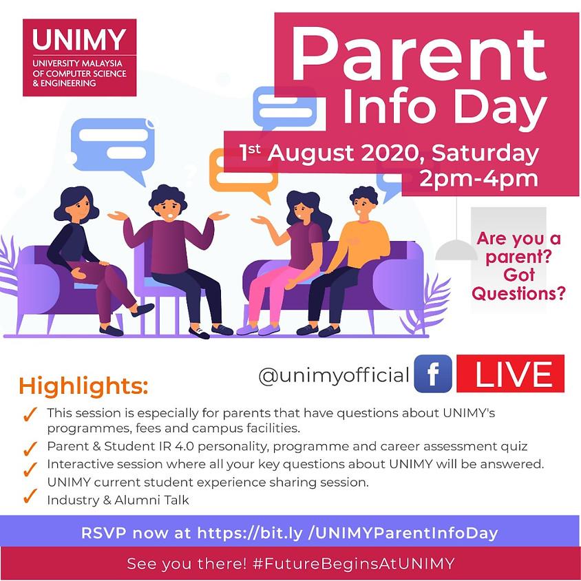 Parent Info Day  (August)
