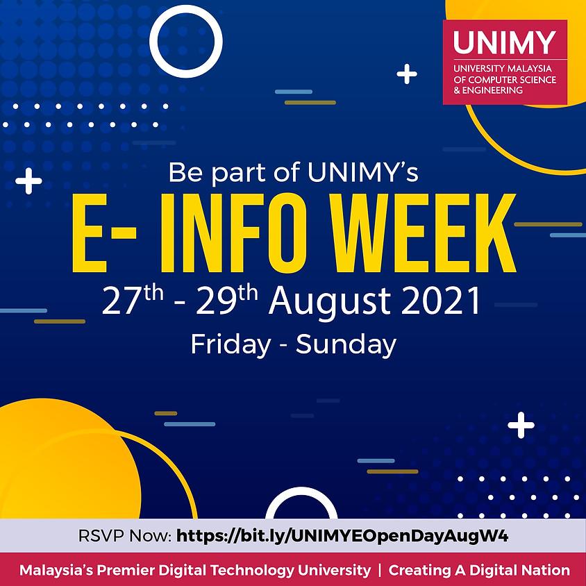 E-Info Week 27 - 29 August 2021