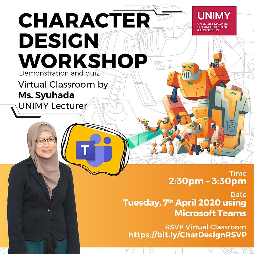 Virtual Classroom: Character Design Workshop
