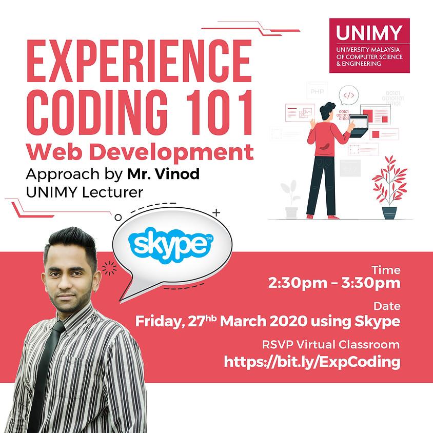 Virtual Classroom Experience Coding 101