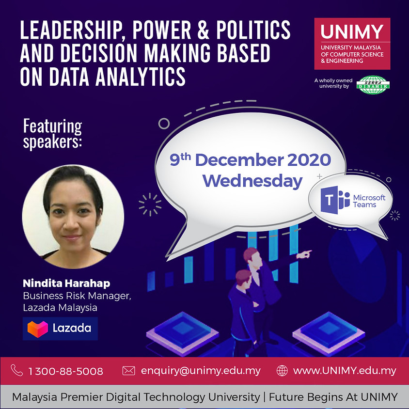Industry in Classroom: LEADERSHIP, POWER & POLITICS AND DECISION MAKING BASED ON DATA ANALYTICS